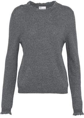 RED Valentino Frayed Mélange Knitted Sweater