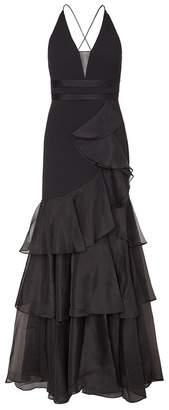 Aidan Mattox Halter Long Dress