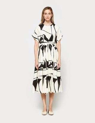 Pleated Dress in Print C $260 thestylecure.com