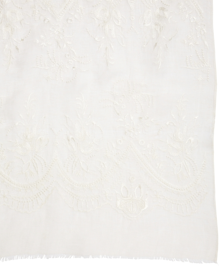 Brooks Brothers Linen Embroidered Wrap