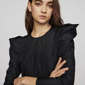 Maje Taffeta top with shoulder detailing