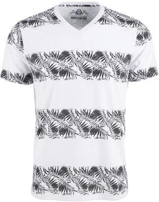 American Rag Men Tropical Palm Stripe Graphic V-Neck T-Shirt