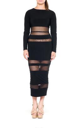 Bella Mesh Midi Dress $104 thestylecure.com