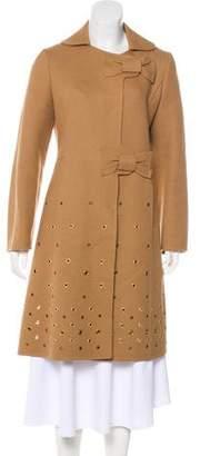 Prada Bow-Accented Wool Coat