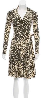 Diane von Furstenberg Animal Print Wrap Dress