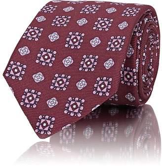 Kiton Men's Medallion-Print Silk Repp Necktie