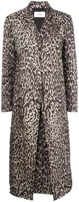 Ports 1961 leopard print quilted coat