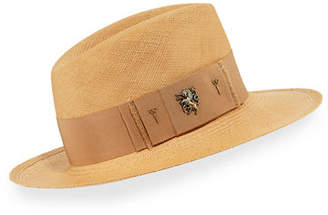 Philip Treacy Raiders Straw Trilby Panama Hat
