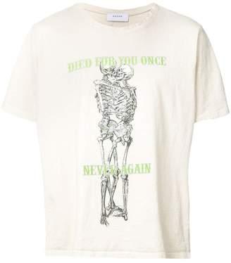 Rhude skeleton print T-shirt