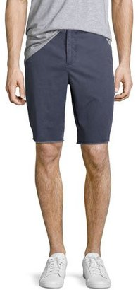 ATM Anthony Thomas Melillo Sun-Bleached Twill Shorts with Frayed Hem, Bright Blue $195 thestylecure.com