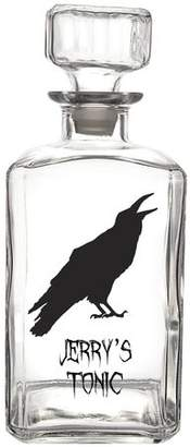 Cathy's Concepts Cathys Concepts Personalized Halloween Raven 34 oz. Glass Decanter
