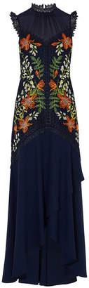 Karen Millen Floral Embroidered Maxi Gown