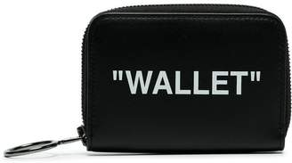 Off-White black wallet logo leather wallet
