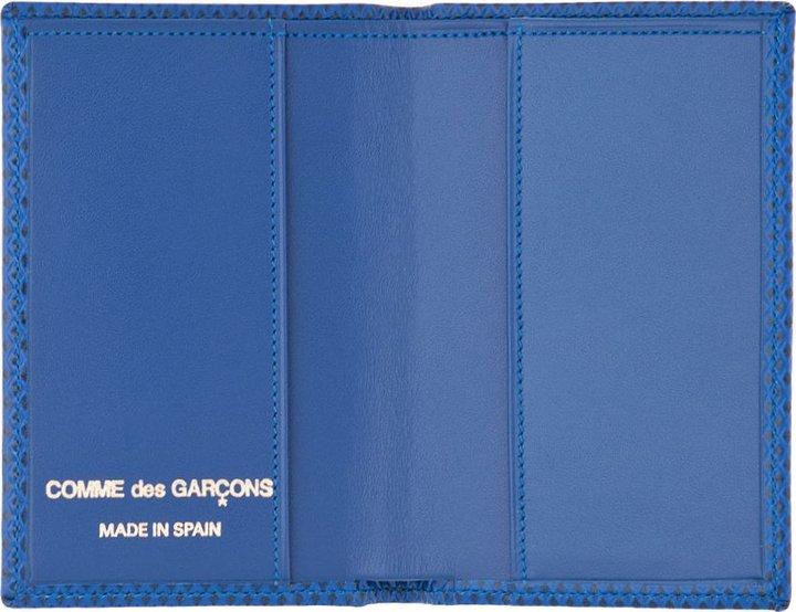 Comme des Garcons Wallets Small Blue Leather Cardholder