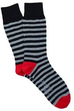 Corgi Stripe Sock in Black