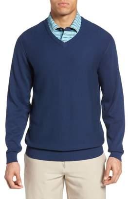Bobby Jones Pique Jersey V-Neck Sweater
