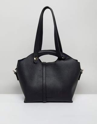 Melie Bianco Vegan Leather Handheld Bag With Optional Strap