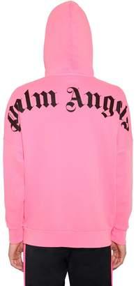 Palm Angels Printed Cotton Jersey Sweatshirt Hoodie