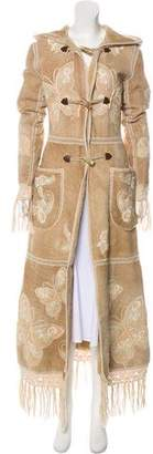 Dolce & Gabbana Embroidered Shearling Coat