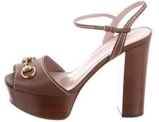 Gucci Peep-Toe Platform Sandals