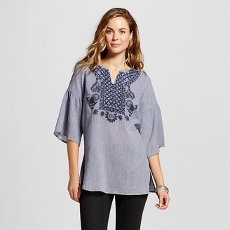 Merona Women's Embroidered Tunic $27.99 thestylecure.com