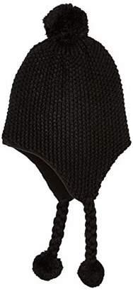 Under Zero Long Ear Flap Bomber Hat Women Winter Knit Pompom Ball Fleece Lined Cap