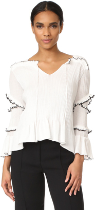 Derek Lam 10 Crosby Ruffle Trim Sweater $495 thestylecure.com