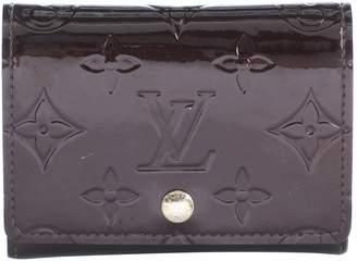 Louis Vuitton Burgundy Patent leather Wallets