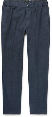 Club Monaco Lex Slim-Fit Tapered Linen-Blend Trousers