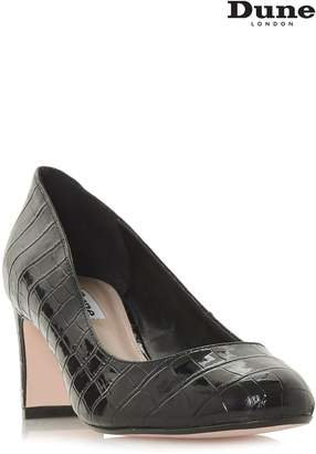 Next Womens Dune Black Croc Addena Round Toe Heel