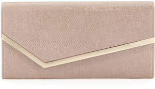 Jimmy Choo Erica Glitter Mesh Clutch Bag