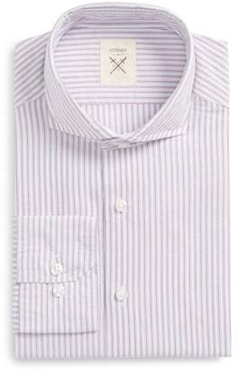 Strong Suit Stripe Cottom Trim Fit Shirt