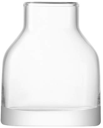 LSA International Loft Clear Narrow Neck Glass Vase