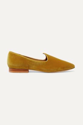 Le Monde Beryl - Venetian Velvet Loafers - Gold