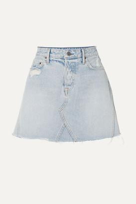 696ee5f1de GRLFRND Eva Distressed Denim Mini Skirt - Light denim