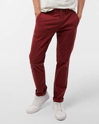 Express Slim Fit Garment Dyed Stretch Chino