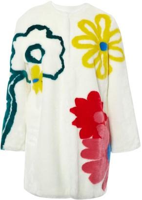 Mira Mikati White Faux fur Coats