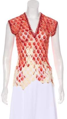 Jean Paul Gaultier Sleeveless Sheer Top