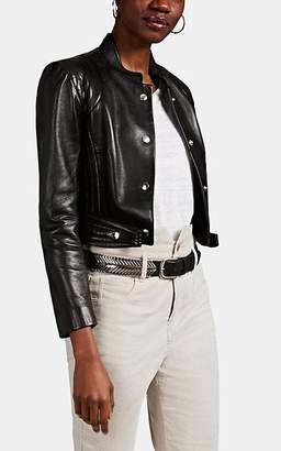Isabel Marant Women's Baxel Crop Leather Jacket - Black