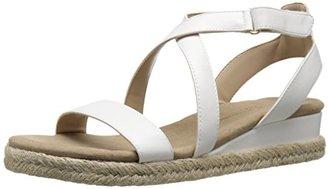 Adrienne Vittadini Footwear Women's Charlie Wedge Sandal $69 thestylecure.com