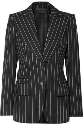 Tom Ford Pinstriped Wool-twill Blazer - Black