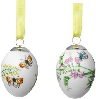 Royal Copenhagen Spring Easter Egg Butterflies Porcelain Figurines (Set of 2)