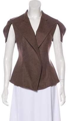 Saint Laurent Wool Cap Sleeve Jacket