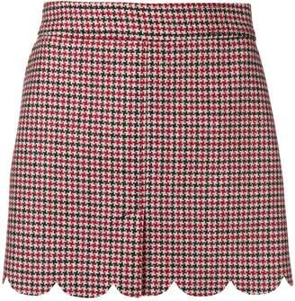 RED Valentino check short skirt