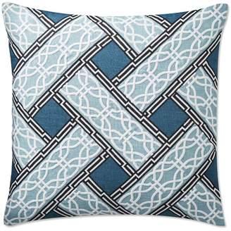 Williams-Sonoma Eleni Printed Embroidered Pillow Cover, Blue