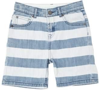Stella McCartney Striped Stretch Denim Shorts