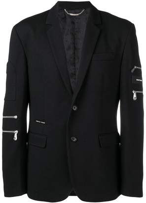 Philipp Plein zipper detail blazer