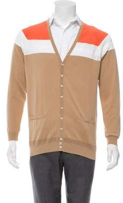 DSQUARED2 Mesh-Accented Colorblock Cardigan w/ Tags