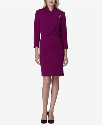 Tahari ASL Petite Envelope-Collar Jacket & Dress Suit