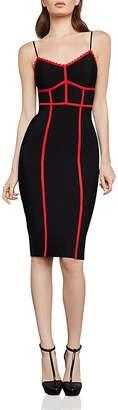BCBGMAXAZRIA Contrast-Trim Body-Con Dress